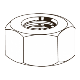 ANSI B1822-ZN PORCA UNC 7/16