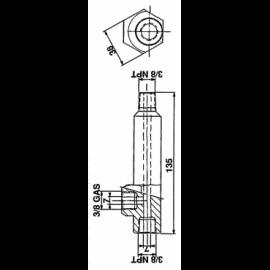 D315-A2 PORCA ORELHAS M5