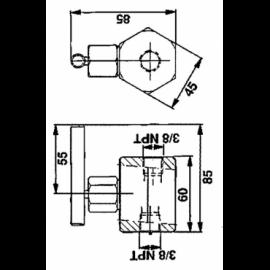 D315-A2 PORCA ORELHAS M16