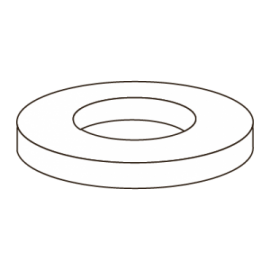 D433-A2 ANILHA CHAPA PLANA M8