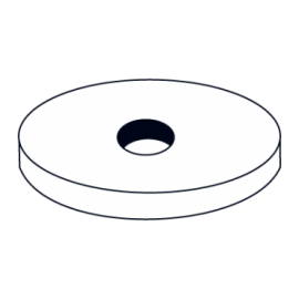 LV102-BORRACHA ANILHA PLANA 19