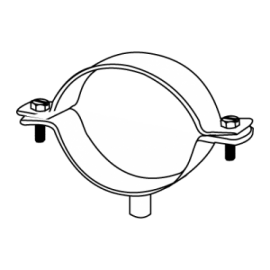 ABRAÇADEIRA M6 Ø50